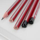 HB triangulaire de crayons avec l'enduit de piste et l'extrémité d'IMMERSION
