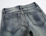 Pantaloni dei jeans degli uomini sottili dello Spandex strappati ricamo classico di modo dell'OEM