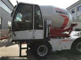 4.0cbm de Automatische Wegende Vrachtwagen van de Concrete Mixer met Leiding met 4 wielen