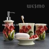 La stanza da bagno fiorita di Polyresin ha impostato (WBP0965A)
