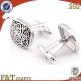 2014Cufflink personalizado de prata de alta qualidade