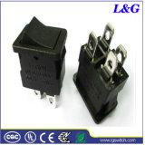 Powe 12A 250VAC Dpst 4 pinos dobra o interruptor de balancim