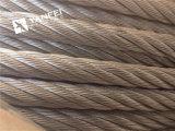 エレベーターのための6*7+Iwrcによって電流を通される鋼線ロープ