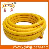 黄色いPVC適用範囲が広くスムーズな表面の吸引のホース