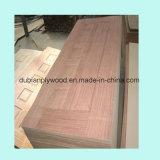 HDF/MDF folheado de madeira com pele de porta do Molde