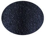 塗られる黒いしわの乳液のやしを搭載する10のゲージの黒いTcによって編まれる手袋