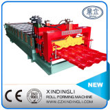 Plaque de toiture Red Metal Glazed Tile Roll Machine formatrice