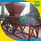 Trituradora de reciclaje plástica de dos ejes de la desfibradora/de la película/desfibradora o amoladora grande del tubo