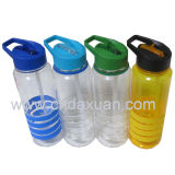 밀짚을%s 가진 귀여운 단순한 설계 플라스틱 물병