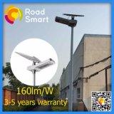 luz de rua solar do diodo emissor de luz dos 5-10m Pólo 15W-50W com de controle remoto