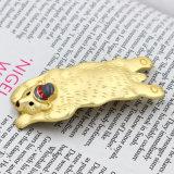 Grande forcella bella della clip di capelli dell'orso dello smalto opaco dell'oro