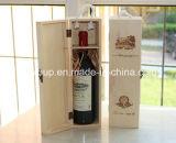 Doos van de Wijn van de Douane van de Stijl van Europa van de luxe de Uitstekende Houten in Natuurlijke Kleur