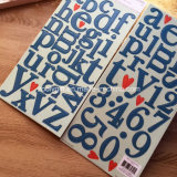 Het alpha- Engelse Karton Gris van de Sticker van de Brieven van de Spaanplaat