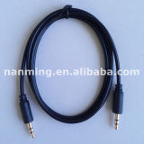 金Plated 3.5mm MiniジャックStereo Audio Cable