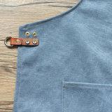 Avental profissional Barista de lona de algodão de fábrica com logotipo projetado