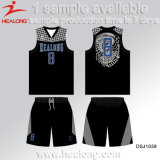 Uniforme de encargo del baloncesto de la juventud de la sublimación del nuevo estilo único del hombre de Healong