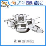Acero inoxidable de 8 PCS Conjunto de utensilios de cocina Ollas (CX-SL0806)