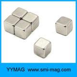 Ímã revestido do bloco do Neodymium do cubo 5X5X5mm da alta qualidade niquelar neo