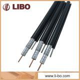 75 câble coaxial de liaison de l'ohm RG6 avec la jupe de PVC pour le système de télévision en circuit fermé de CATV