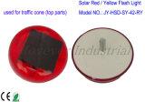 Проблесковый свет красного цвета 8 СИД солнечный для конуса движения