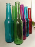 Hot Sale clair et coloré des bouteilles en verre de bière