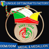 Medaglia del metallo di vendita calda o medaglione in lega di zinco su ordinazione del ricordo di sport
