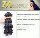 熱い販売のブラジルの加工されていなく自然で黒い人間のバージンの毛