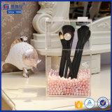 Envases de almacenaje de acrílico del lucite para el sostenedor de cepillo del maquillaje con la tapa