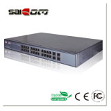 scanalature di 1000Mbps 25.5V/15.4V 4SFP e 24 interruttori Port PoE