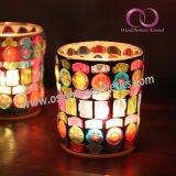 ホーム装飾表のセンターピースのための素晴らしいモザイク・ガラスの蝋燭ホールダーの蝋燭のコップ