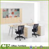 Poste de travail modulaire de partition de bureau de personnel administratif avec Pedastal