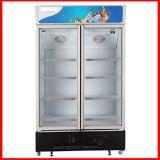 Congelador vertical livre de gelo Porta de vidro