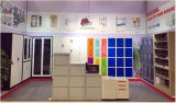 Quatro prateleiras ajustáveis de vidro armário de porta de balanço