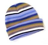 Bonnet en tricot gris à broder plat