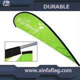フラグの旗か表示浜の旗のフラグまたは広告飛行の旗の広告