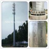 쉽게 설치된 직류 전기를 통한 강철 관 단청 폴란드 원거리 통신 탑