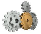 FL-5305-120ht pulverisierte Metall gesinterten gelben Zink-Kettenrad-Stahlgang mit genuteter Ausbohrung