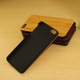 Madera de cerezo natural Caja de madera tallada para el iPhone 8