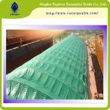 Couverture verte de remorque de bâche de protection de PVC de couverture de camion de Tarps de toile