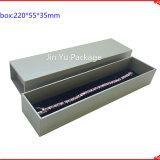 Contenitore impaccante di monili di cuoio di carta su ordinazione del regalo Jy-Jb58 della cassa del contenitore di braccialetto della collana della vigilanza dell'orecchino dell'anello