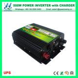 DC à l'AC l'énergie solaire onduleur avec chargeur de batterie (QW-M500UPS)