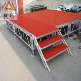 Exposição de madeira de madeira de madeira de compensação de madeira desfile de moda plataforma de alumínio portátil