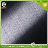 Feuilles noires d'acier inoxydable de finition de délié de matériaux de construction pour le panneautage de mur de décor