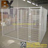 Cage de chien à grande caisse en bois soudé