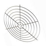 De pvc Gegalvaniseerde Chroom Gelaste Dekking van de Ventilator van de Draad As
