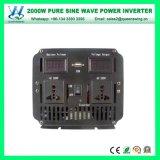 2000W DC12V AC110/120V車インバーター純粋な正弦波インバーター(QW-P2000)