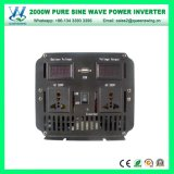 2000W DC12V AC110/120V 차 변환장치 순수한 사인 파동 변환장치 (QW-P2000)