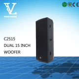 C2515 C5215 Single Double 15 polegadas PRO Audio Sound Speaker Box