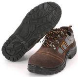 Os homens do couro Calçado de segurança funcionam Boot