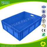 Caixa plástica Stackable material dos PP do Virgin azul